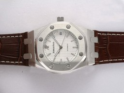 Fake Cool Audemars Piguet Royal Oak Automatic Black Dial AAA klockor [ X4H6 ]
