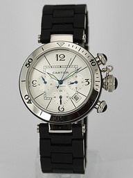Fake Avgörande Cartier Pasha Seatimer Chronograph Automatic med White Dial AAA klockor [ Q2D9 ]