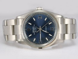 Fake Stora Rolex Air-King Precision Automatisk med Blue Dial AAA klockor [ R6K9 ]